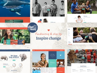 HaveHeart animals save the planet ecological campaign ngo volunteer ecology donations nonprofits non profit fundraising fundraiser charity layouts web design ux ui responsive theme wordpress