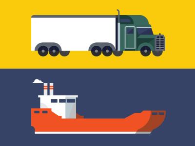 Carriers truck semi-truck boat ship carrier