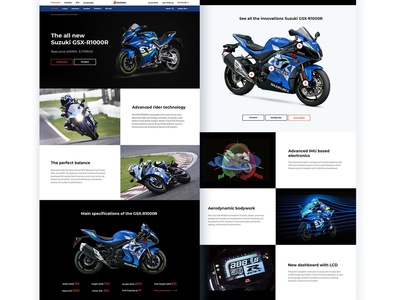 The project of the American Suzuki Moto website