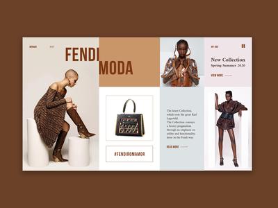 Fendi Brand Blog Concept