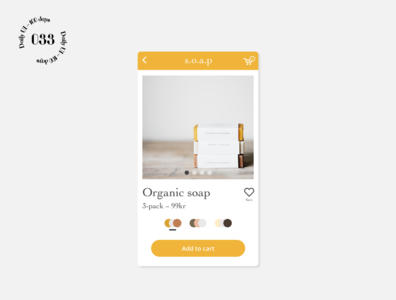 Daily UI #033 / Customize Product xd soap ui daily ui daily 100 challenge customize product