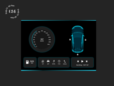 Daily UI #034 / Car Interface dashboad daily ui ui daily 100 challenge car interface