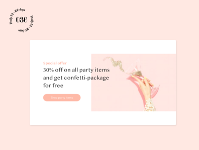 Daily UI #036 / Special Offer 036 pink party special offers special offer daily ui ui daily 100 challenge