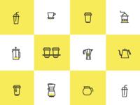 Tea & Coffee Icon set