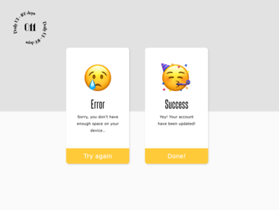 Daily UI #011 / Flash Message 011 flash message success error daily ui ui daily 100 challenge
