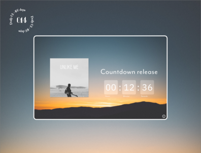 Daily UI #014 / Countdown Timer