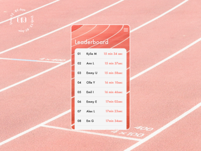 Daily UI #19 / Leaderboard 019 sports leaderboard app design daily ui ui daily 100 challenge