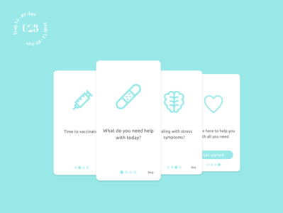 Daily UI #023 / Onboarding app design health onboarding branding daily ui daily 100 challenge