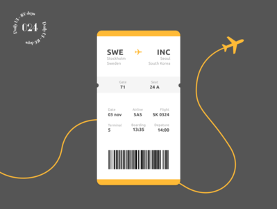 Daily UI #024 / Boarding Pass daily ui app design travel ui daily 100 challenge boarding pass