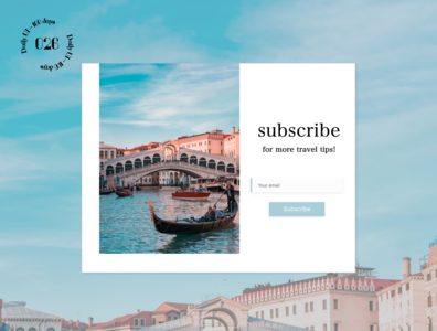 Daily UI #026 / Subscribe subscribe travel daily ui ui daily 100 challenge