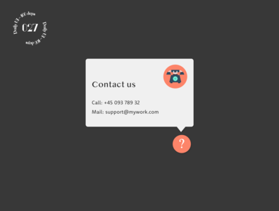 Daily UI #028 / Contact us