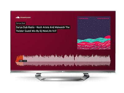 SoundCloud Chromecast Receiver player audio music interface ux app tv chromecast google cast soundcloud