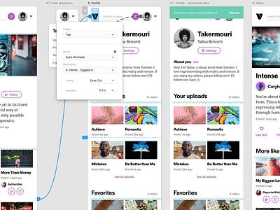 Vido UI kit for Adobe XD (artboards) adobe xd ui kit app design mobile design ui design ux design ux mobile design typography neon ui app adobepartner