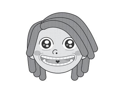 Catt Sticker – V3 comic style comic cartoon illustration vector cartoons cartoon caricature illustration black and white