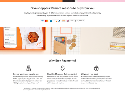 Etsy Payments payments ux  ui brand design marketing web design webdesign etsy website design ui ux