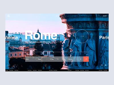 Travel company uxui webdesign tours travel 2020 trend top after effect liquid motion banner slider art web website design typography animation ux ui