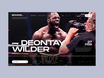 Sport news website - concept - part 1 top 2020 trend 2022 ternd after effect animation motion typogaphy webdesign sport boxing mma glitch preloader slider design composition 2d 3d art fresh design awwwards