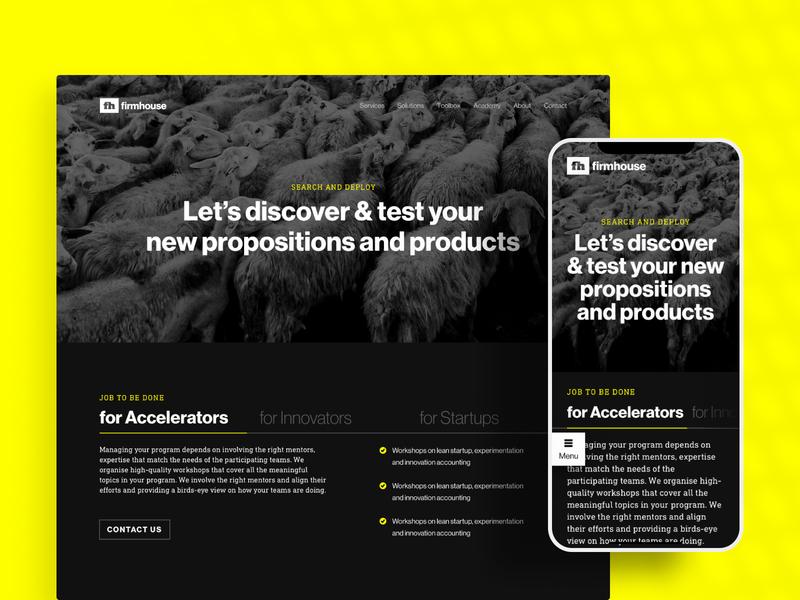 Firmhouse Corporate Website web flat branding typography ux ui design brand