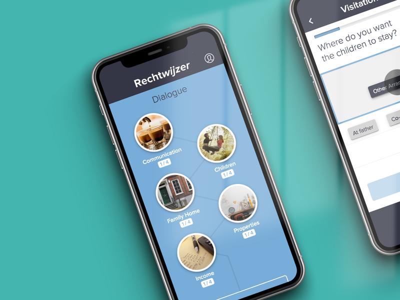 Rechtwijzer — Online Mediation Platform law divorce platform web app flat ui ux