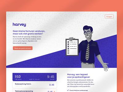 Harvey — Business Advisor onboarding landing flat branding web platform ui ux typography design brand