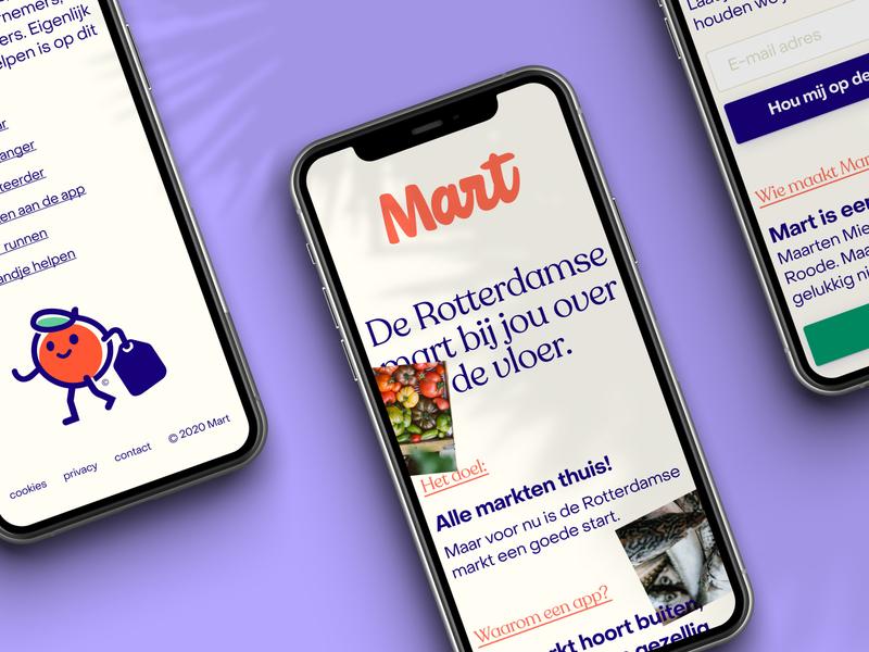 Mart — Onboarding website app branding web ux ui brand design