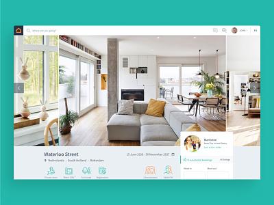 Housing Anywhere —UI design rental housing platform flat web ux ui design