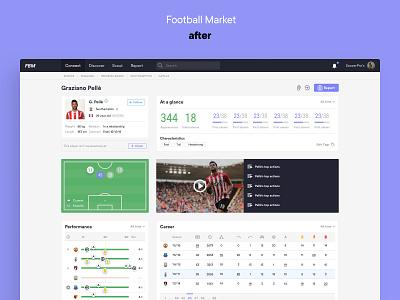 Football Market — Player Profile Redesign football soccer data redesign ux ui design