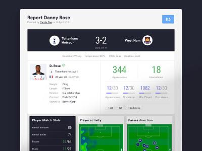 Football Market — Player Report social network soccer design app flat ux ui