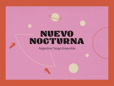 Nuevo Nocturna tango music vector illustration design brand