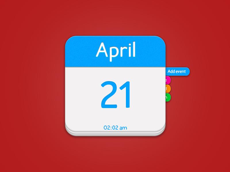 iOs Calendar (Free psd) calendar freebies ios icon calendar ios calendar icon blue white