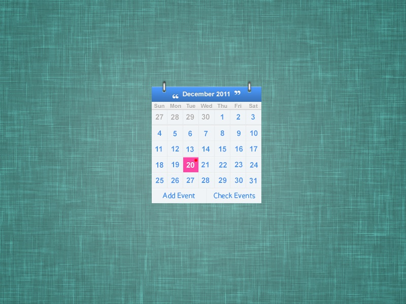 Calendar {Freebie} psddd freebie free psd calendar rebound freebies blue