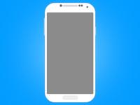 Galaxy S4 (free PSDDD) psd flat free freebie freebies mockup android cellphone psddd s4 galaxy s4 samsung illustration