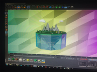 Low poly Floating Island (WIP)