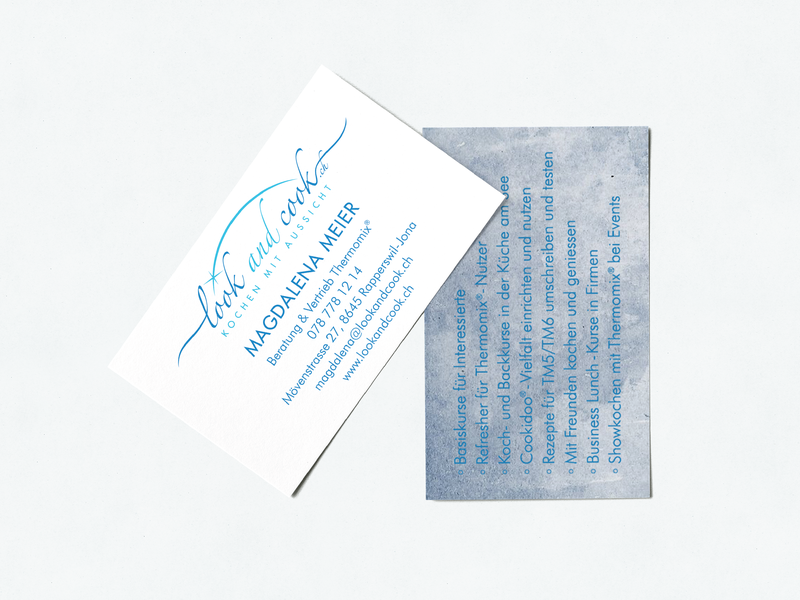 Look and Cook Business Card Design