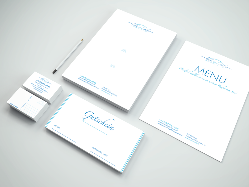Look and Cook Stationery Design