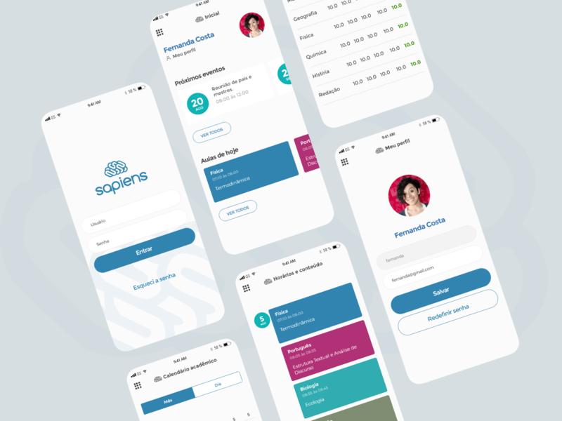 Sapiens App prototype ux design ui design mobile mobile app ux ui design