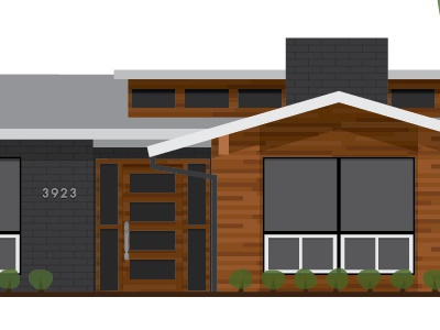 Mid Century Modern House by Jaymee Srp on Dribbble