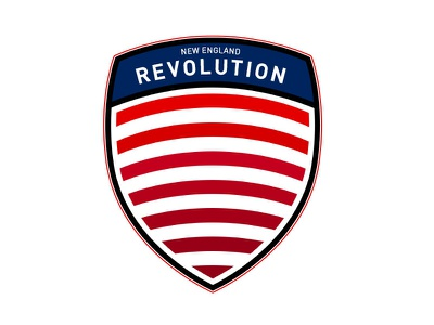 New England Revolution revolution team illustrations badge crest sport flat icon mls new england soccer