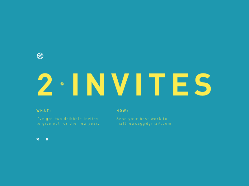 Two Invites instructions dribbble invitation invite