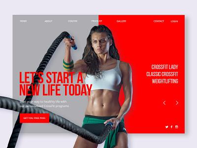 Crossfit webdesign minimal design web sport crossfit брендинг дизайн
