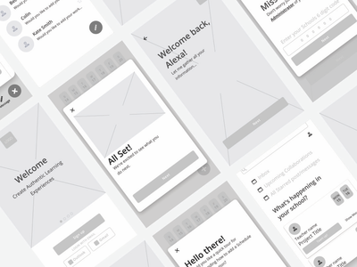 Wireframes from bootcamp flat figmadesign wireframes wireframe mobile digital mobile app design app dailyux web typography dailyui ui ux minimal design