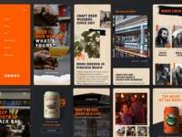 Back Bay brewing Mobile Designs