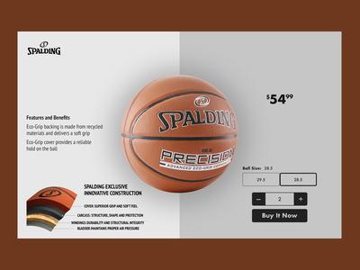 Spalding e-commerce page UI