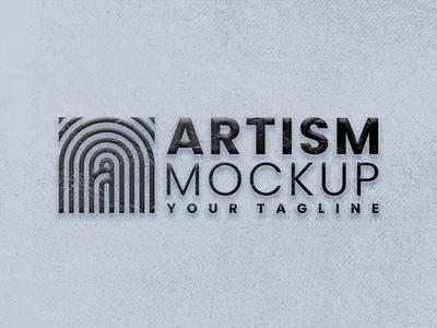 Real 3d Texture Logo Mock Up psd layered product template texture graphic design business branding 3d artsmmockup ui logo elegant design company mockup