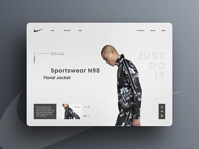 Nike Sportswear N98 khokhloma windbreaker website promo product branding ux ui shot n98 nike