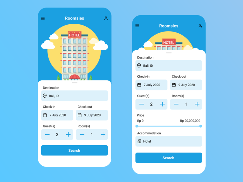 Roomsies - Hotel Booking daily ui travel booking hotels ios android mobile uiux branding mobile ui mobile app mobile design app design app