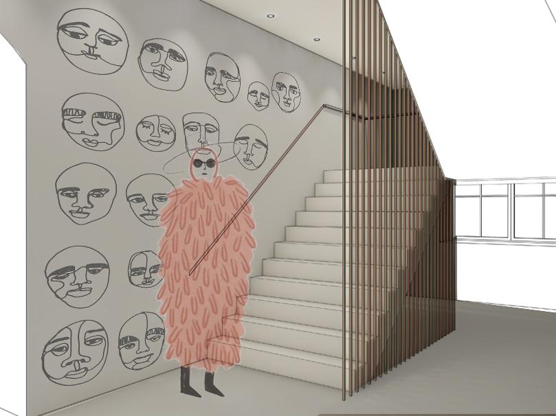 Design hotel staircase visualisation illustration hotel interior hotel design hotel creative art design project interior design interior