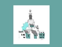 Vilnius in blue