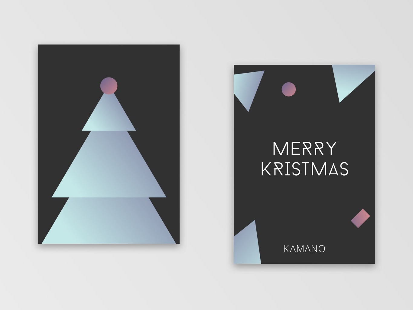 Christmas Card   Tree design illustration holiday card creative christmas card