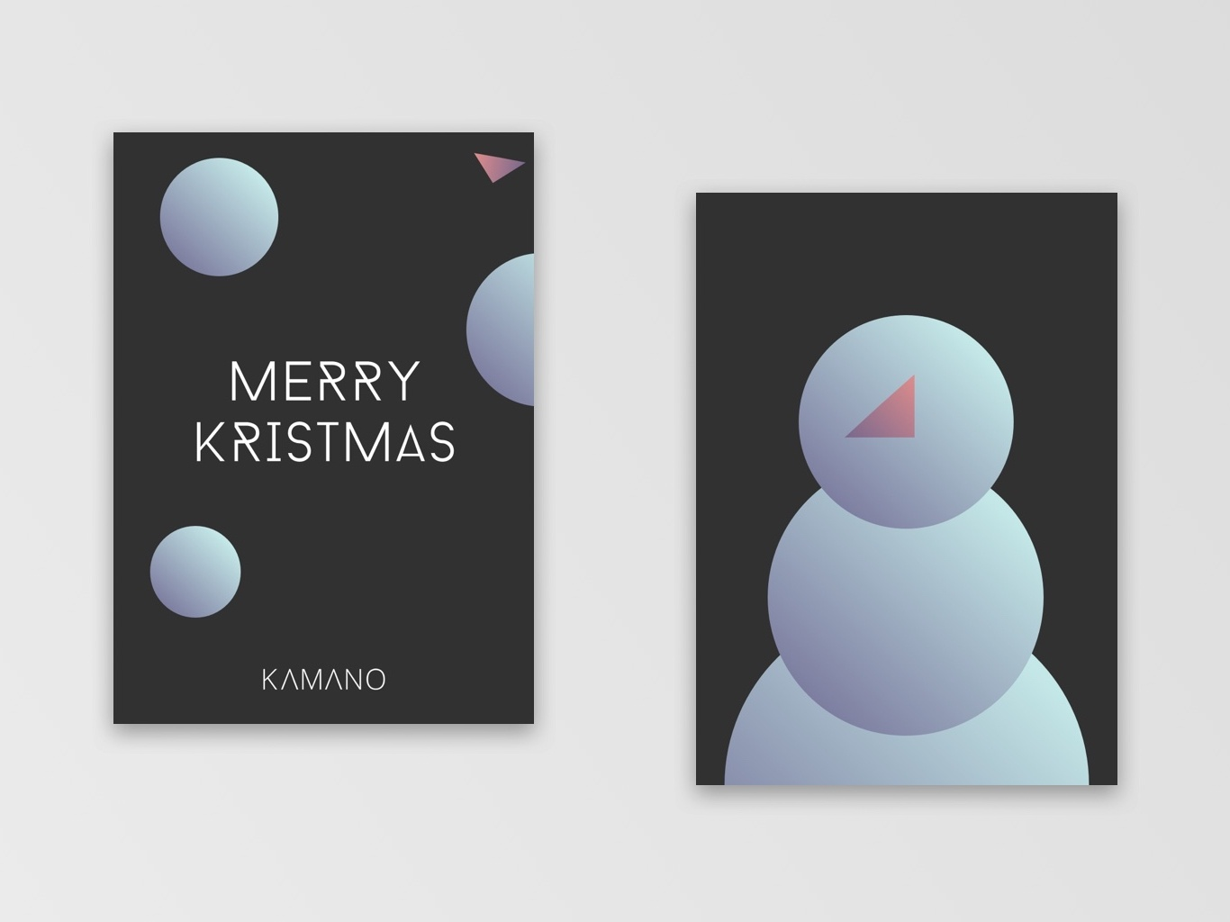Christmas Card | Snowman illustration holiday card design creative christmas card
